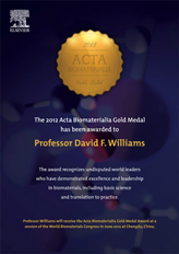 Flyer for Elsevier Acta Biomaterialia Gold Award