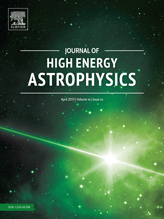 Journal Cover design for Elsevier's new Journal of High Energy Astrophysics.