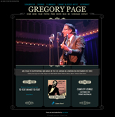 Gregory Page Jazz Singer Website
