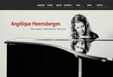 Responsive website for pianist Angélique Heemsbergen