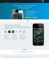 Responsive website for iPhone App iSmoothRun