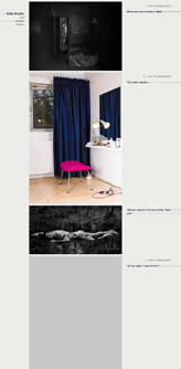 Responsive portfolio website design and development for art photographer Niels Mulder.